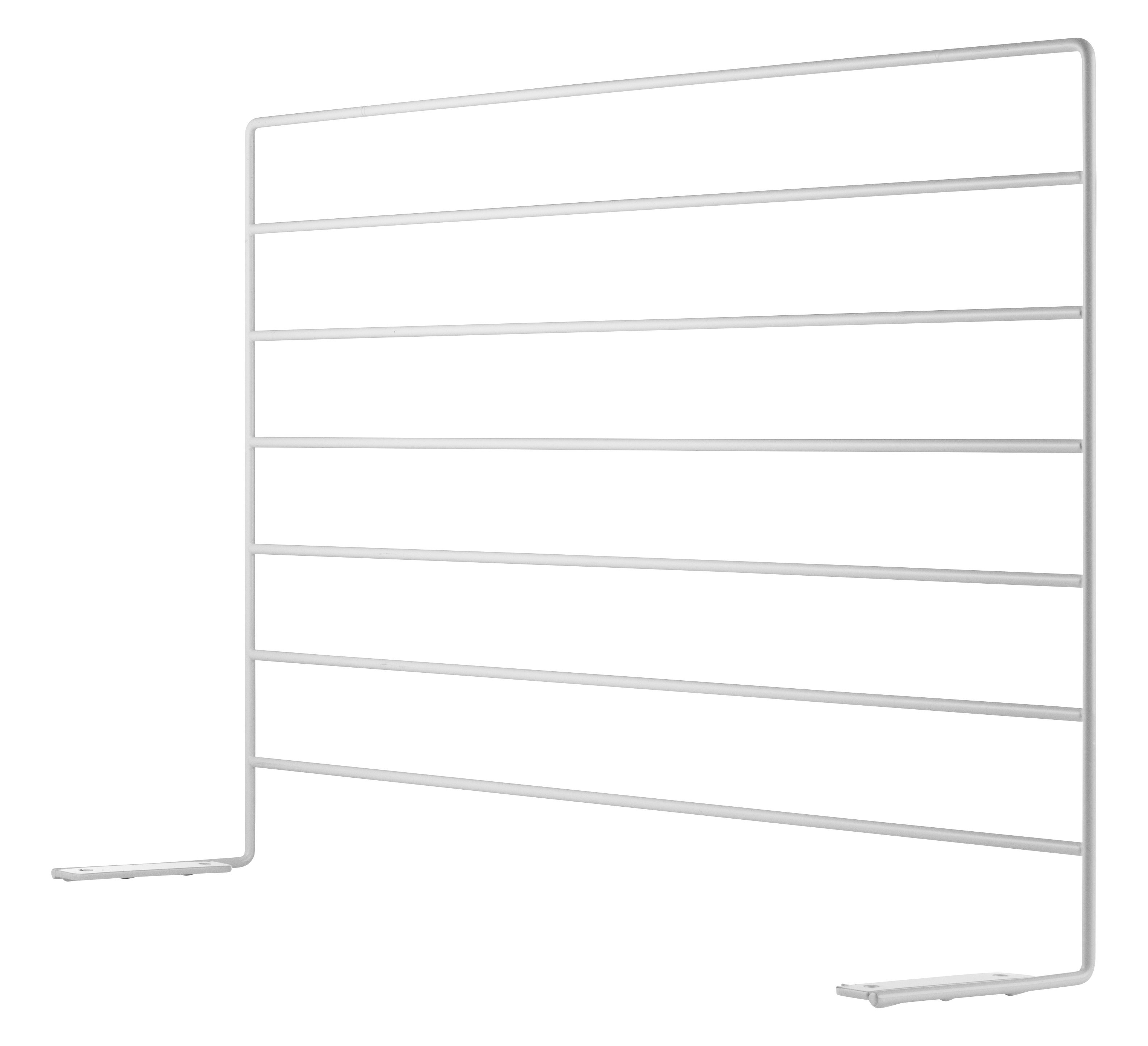 Furniture - Office Furniture - String Works Screen - For desk - Steel by String Furniture - Screen / White - Lacquered steel