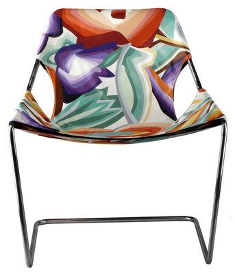 Möbel - Außergewöhnliche Möbel - Paulistano Missoni Sessel mit verstellbarer Rückenlehne - Objekto - Mehrfarbig - Baumwolle, rostfreier Stahl