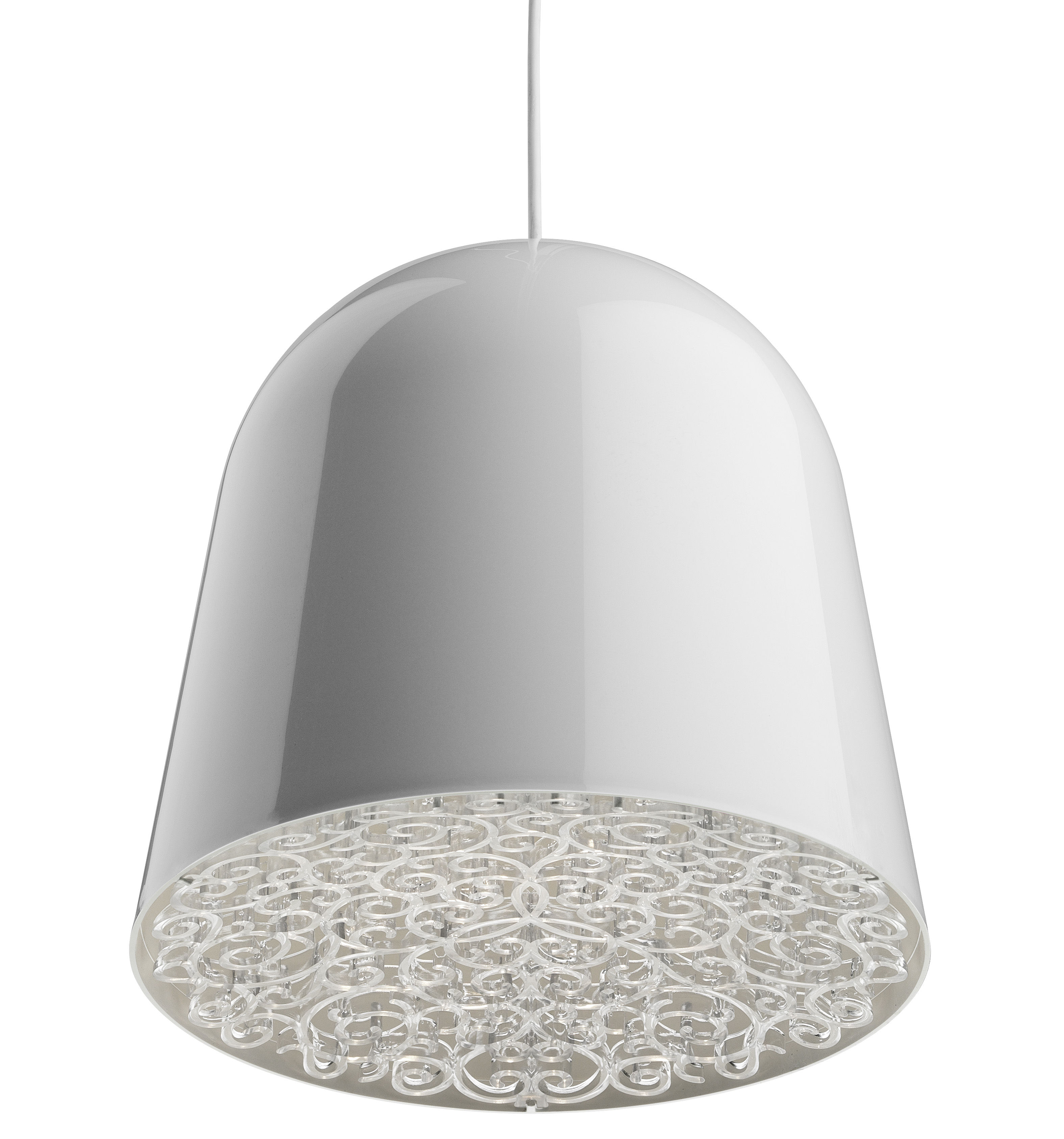 Luminaire - Suspensions - Suspension Can Can - Flos - Blanc / Frise transparente - PMMA, Polycarbonate