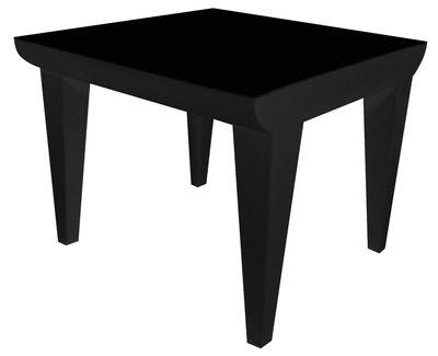 Table basse Bubble Club / 51 x 51 cm - Kartell noir en matière plastique