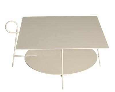 Mobilier - Tables basses - Table basse Carmina / 70 x 70 x H 43 cm - Driade - Sable - Acier, Aluminium époxy
