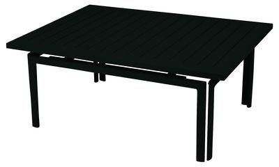 Table basse Costa / Aluminium - 100 x 80 cm - Fermob réglisse en métal