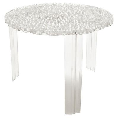 Table basse T-Table Alto / Ø 50 x H 44 cm - Kartell cristal en matière plastique