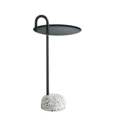 Table d'appoint Bowler / Métal & granit - Hay gris,vert en métal