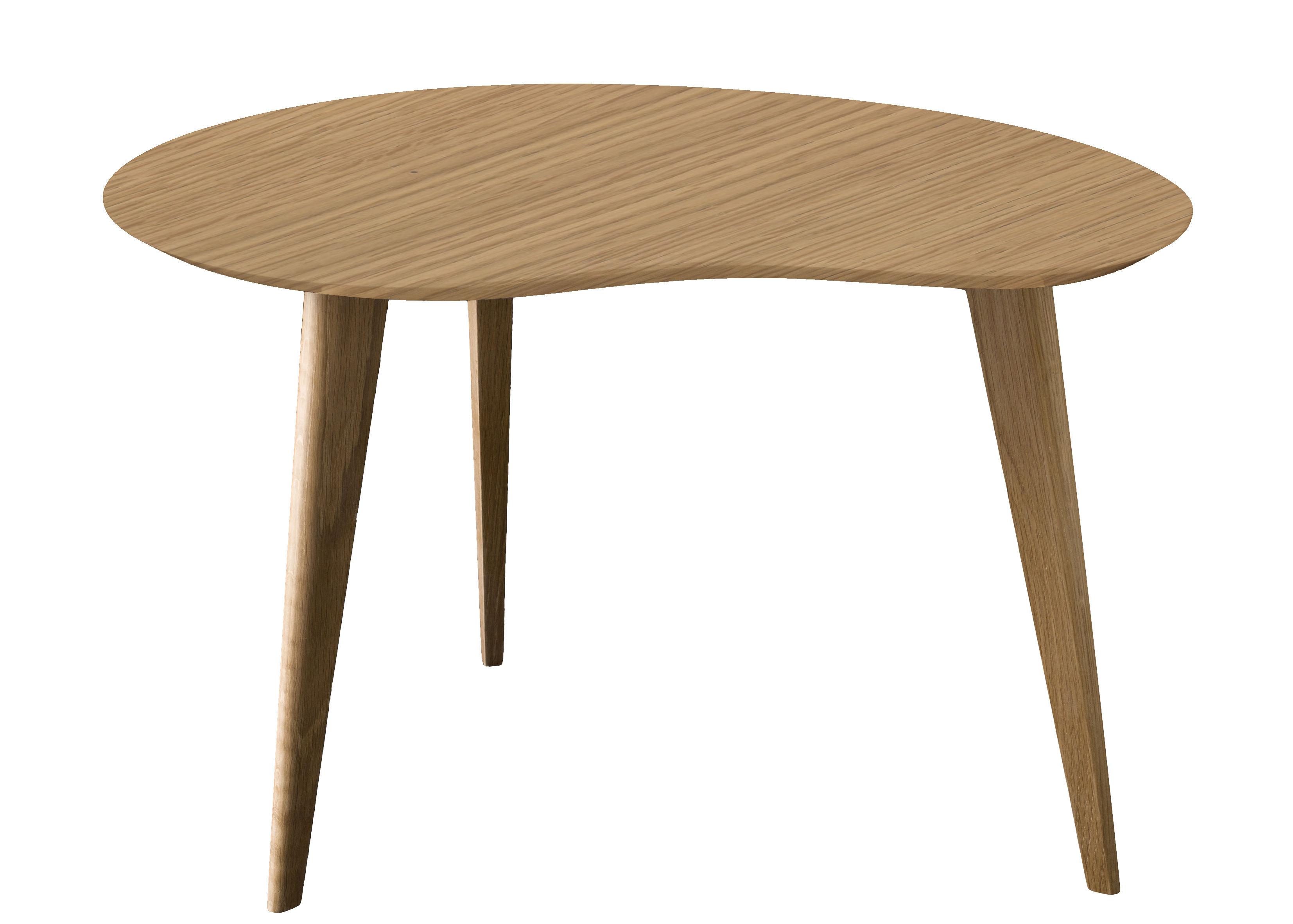 Arredamento - Tavolini  - Tavolino Lalinde - a forma di fagiolo - Small / Gambe in legno di Sentou Edition - Rovere / Gambe legno - MDF, Rovere verniciato