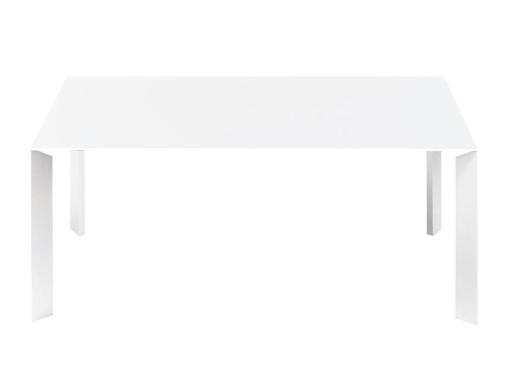 Arredamento - Tavoli - Tavolo con prolunga Nori - L 166 - 278 cm di Kristalia - Piano e prolunghe: laminato bianco /  Piedi in alluminio - Alluminio anodizzato, Laminato stratificato
