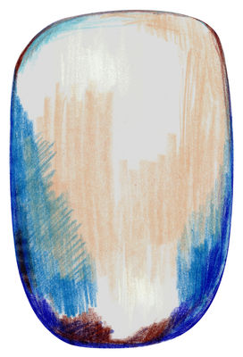 Scribble Teppich / 300 x 200 cm - Moooi Carpets - Blau,Grau,Beige