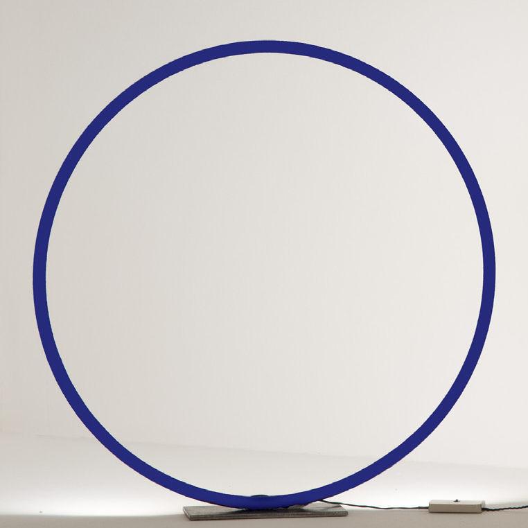 Leuchten - Tischleuchten - Sorry Giotto 1 LED Tischleuchte - Catellani & Smith - Blau - Cuivre peint, Eisen