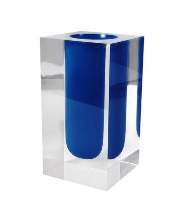 Déco - Vases - Vase Bel Air Test Tube / Acrylique - Tube - Jonathan Adler - Bleu Cobalt / Transparent - Acrylique