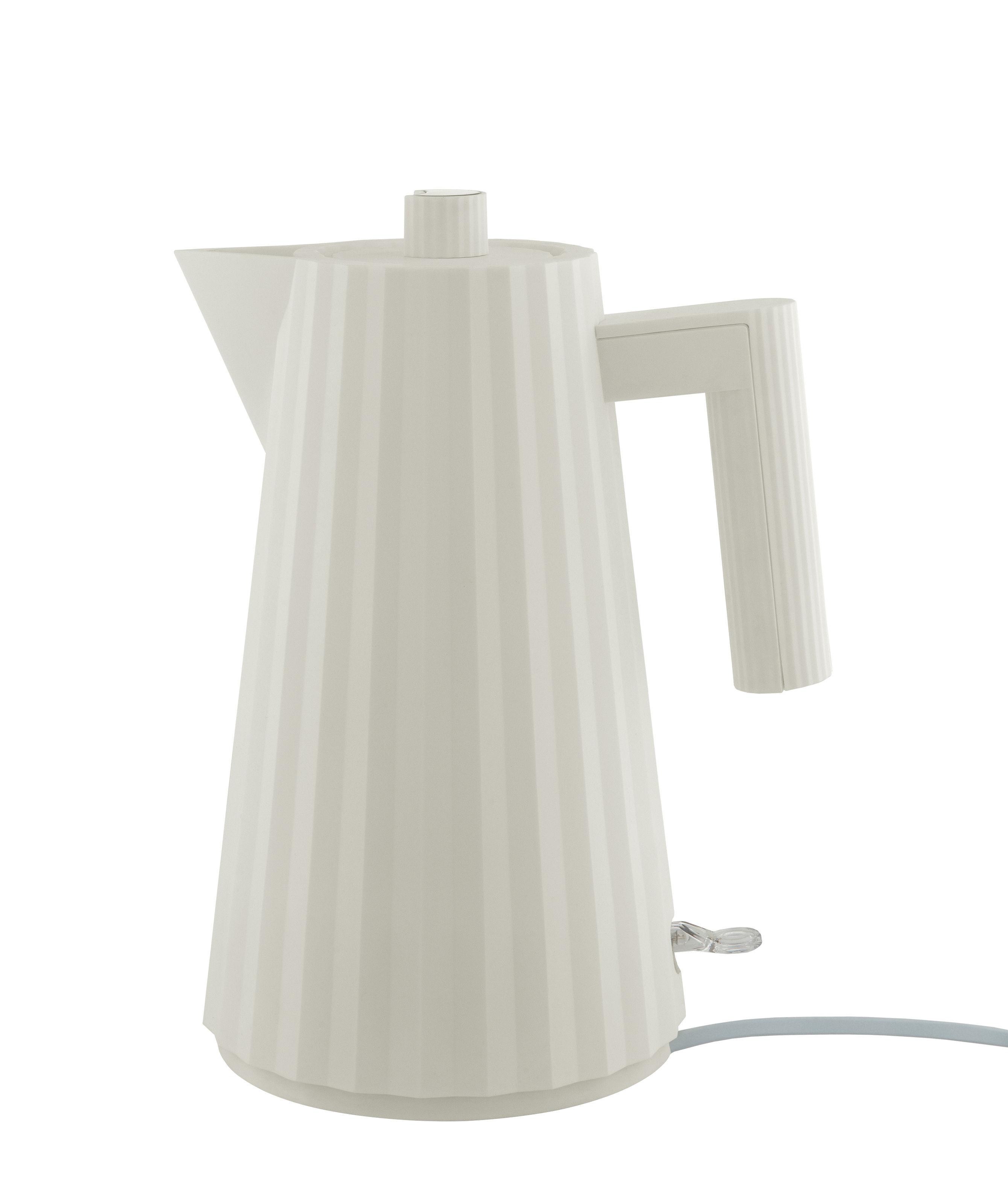 Küche - Teekannen und Wasserkessel - Plissé Wasserkocher / 1,7 l - Alessi - Weiß - thermoplastisches Harz