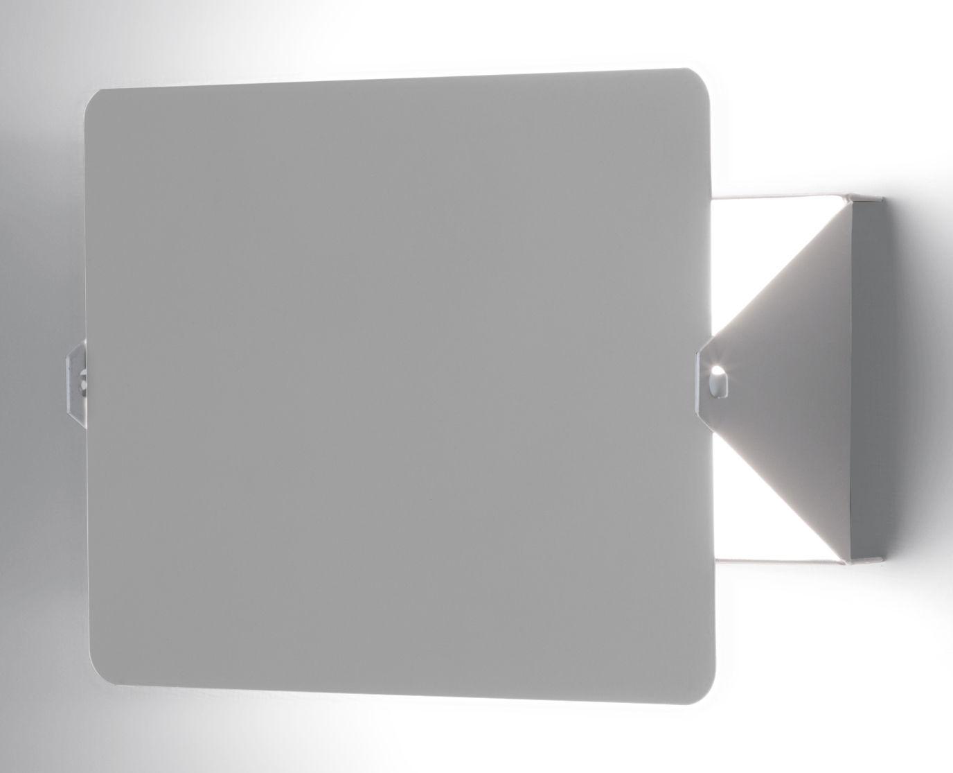 Illuminazione - Lampade da parete - Applique - by Charlotte Perriand / Riedizione 1962 di Nemo - Bianco / Placca girevole grigia - alluminio verniciato, metallo verniciato