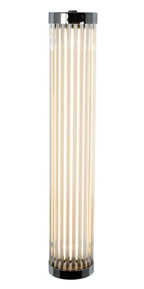 Luminaire - Appliques - Applique Pillar LED / Verre - H 40 cm - Original BTC - Chromé / Blanc - Laiton chromé, Verre
