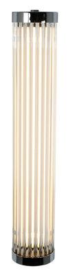 Illuminazione - Lampade da parete - Applique Pillar LED - / vetro - H 40 cm di Original BTC - Cromato / Bianco - Ottone cromato, Vetro