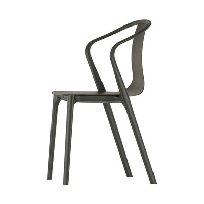 Furniture - Chairs - Belleville Armchair - / Wood by Vitra - Dark oak - Molded plywood, Polyamide