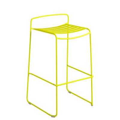Furniture - Bar Stools - Surprising Bar stool - / Metal - H 78 cm by Fermob - Verbena - Painted steel