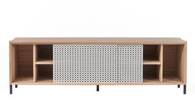 Buffet Gabin / Meuble TV - L 162 - Chêne & métal - Hartô gris clair,chêne naturel en métal