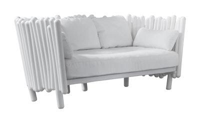 Mobilier - Canapés - Canapé droit Canisse / L 173 cm - Serralunga - Blanc - Polyéthylène, Tissu polyester