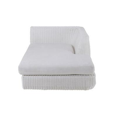 Canapé modulable Agorà / Module Lounge Gauche - Assise profonde / L 100 cm - Unopiu blanc,blanc écru en matière plastique