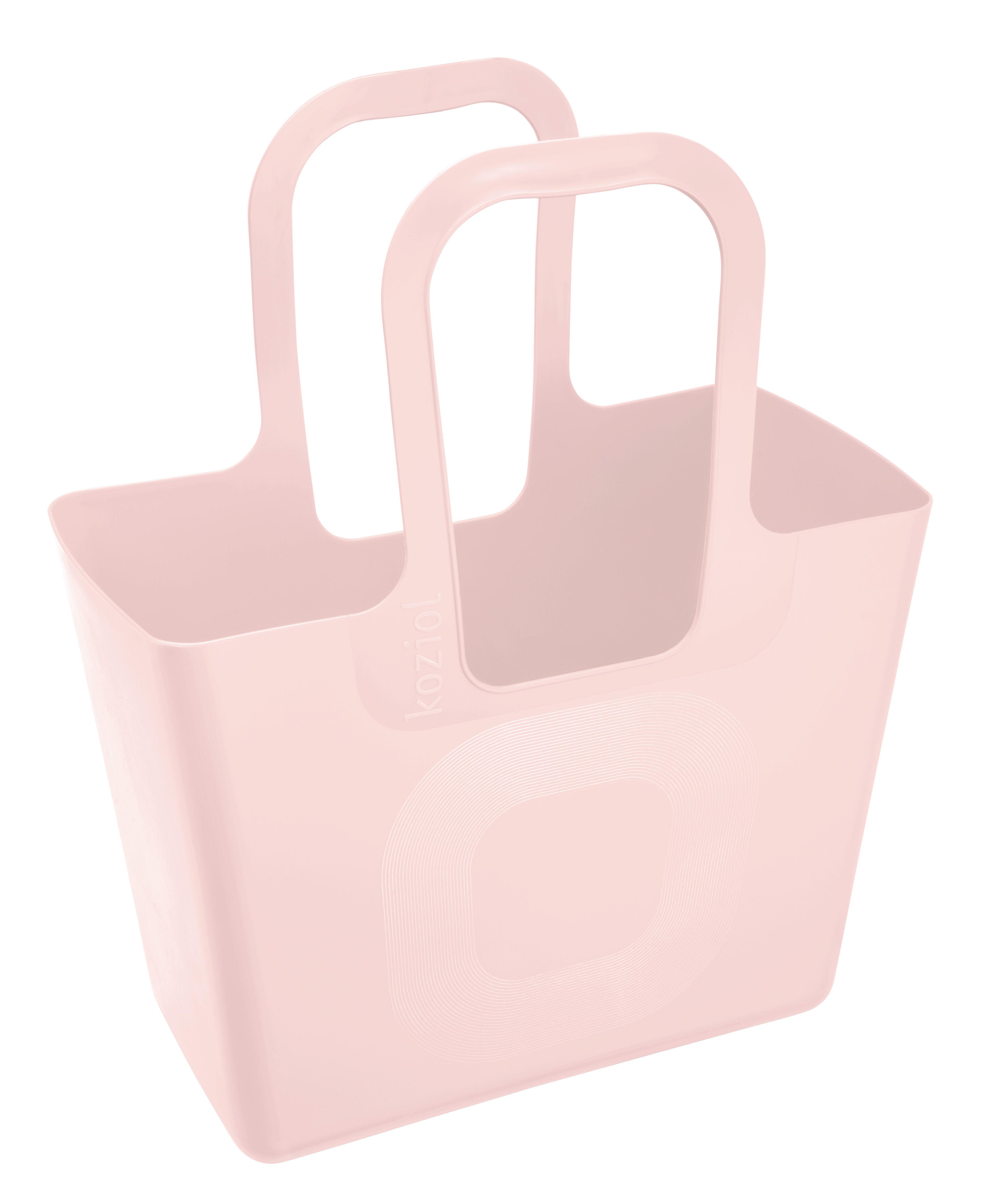 Interni - Per bambini - Cestino Tasche XL - / L 44 x H 54 cm di Koziol - Rosa Queen - Plastica