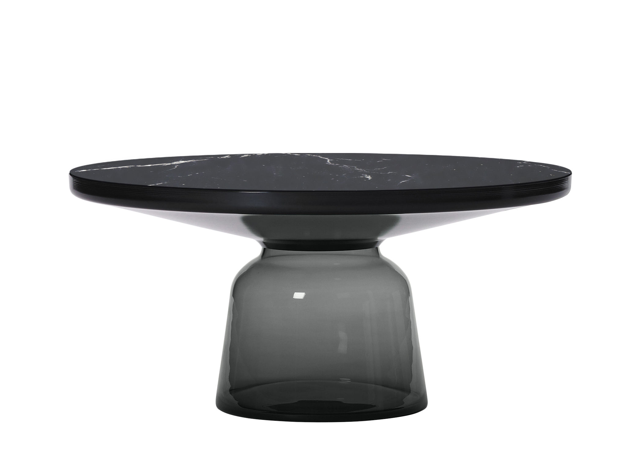 Furniture - Coffee Tables - Bell Coffee Coffee table - / Ø 75 x H 36 cm - Marble table top by ClassiCon - Black marble / Quartz grey / Black - Blown glass, Marble, Steel