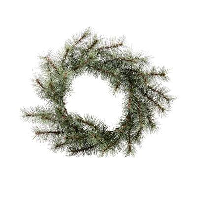 Couronne de Noël lumineuse Nature / LED - Ø 45 cm / Sapin artificiel - House Doctor vert en bois