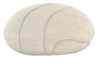Coussin Pierre Livingstones / Laine - 30x27 cm - Smarin blanc en tissu