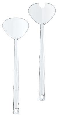 Couverts à salade Crystal - Koziol cristal en matière plastique