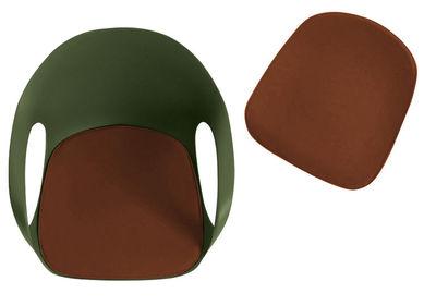 Image of Cuscino per seduta - per poltrona Elephant di Kristalia - Marrone - Tessuto