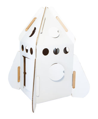 Furniture - Kids Furniture - Play! Den - Rocket / Carboard by studio ROOF - White - Carton recyclé