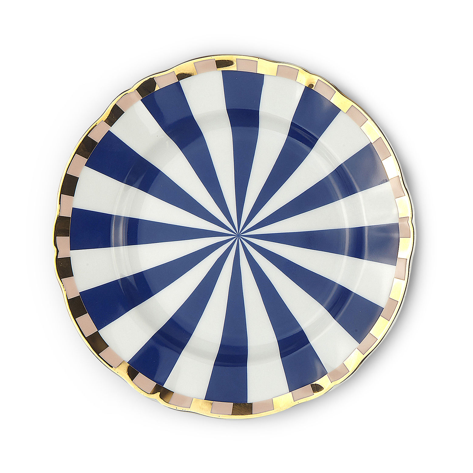Tableware - Plates - Fortuna Dessert plate - / Ø 20.5 cm by Bitossi Home - Geometry - China