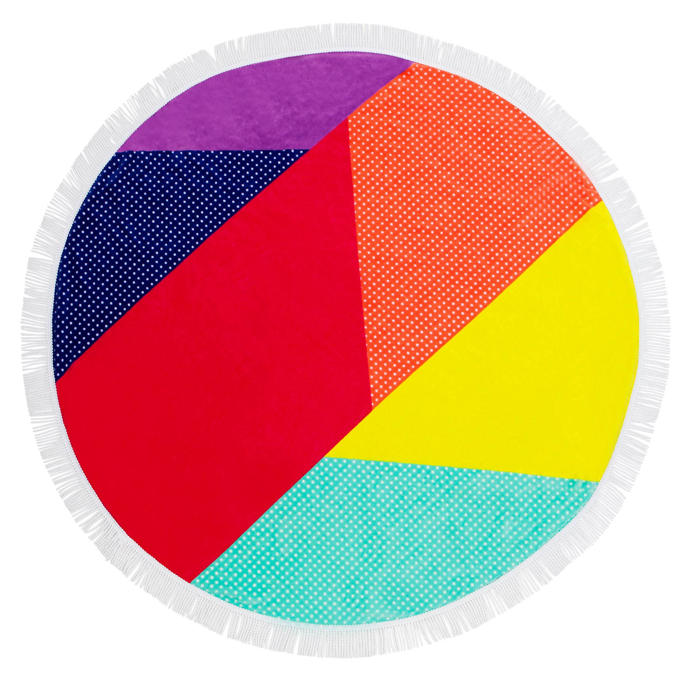 Jardin - Déco et accessoires - Drap de bain Hulule / Ø 150 cm - Coton éponge - Sunnylife - Hulule / Multicolore - Coton éponge