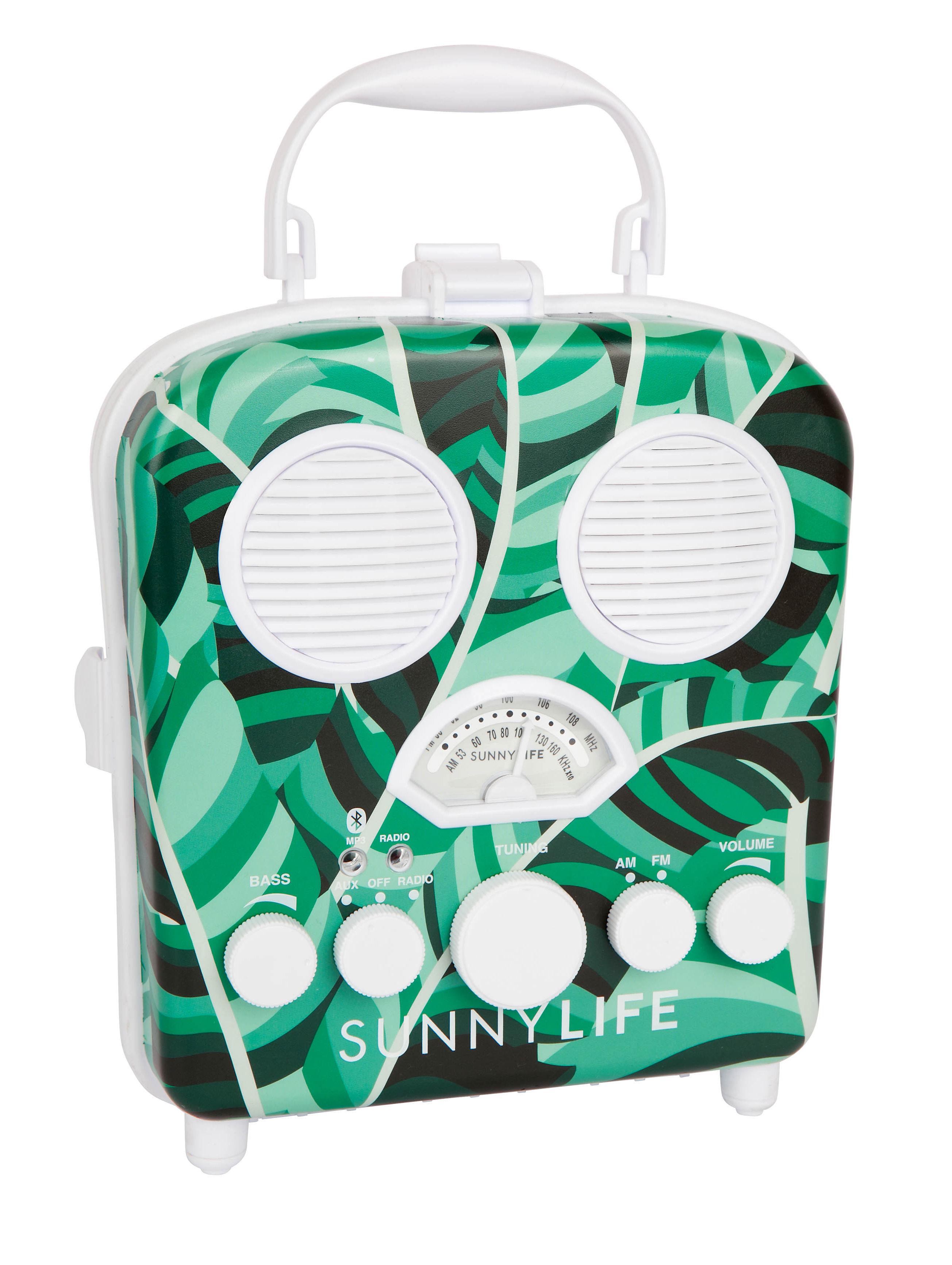 Déco - Pour les enfants - Enceinte portable Banana Palm / Enceinte - Étanche - Sunnylife - Banana palm / Vert & blanc - Matière plastique, Mousse
