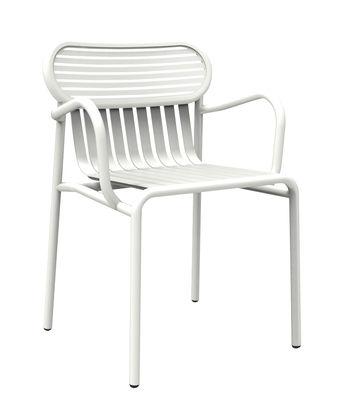 Mobilier - Chaises, fauteuils de salle à manger - Fauteuil bridge Week-end / Aluminium - Petite Friture - Blanc - Aluminium thermolaqué époxy