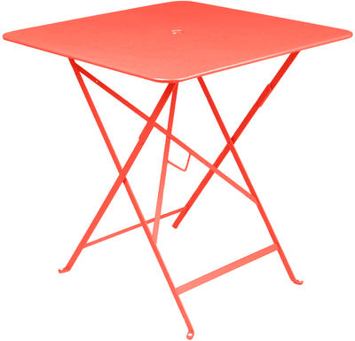 Outdoor - Garden Tables - Bistro Foldable table by Fermob - Nasturtium - Lacquered steel
