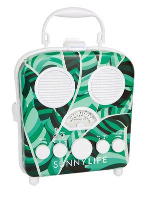 Dekoration - Für Kinder - Banana Palm Kabelloser Lautsprecher / Lautsprecher - wasserdicht - Sunnylife - Bananenstaude / grün & weiß - Plastikmaterial, Schaumstoff