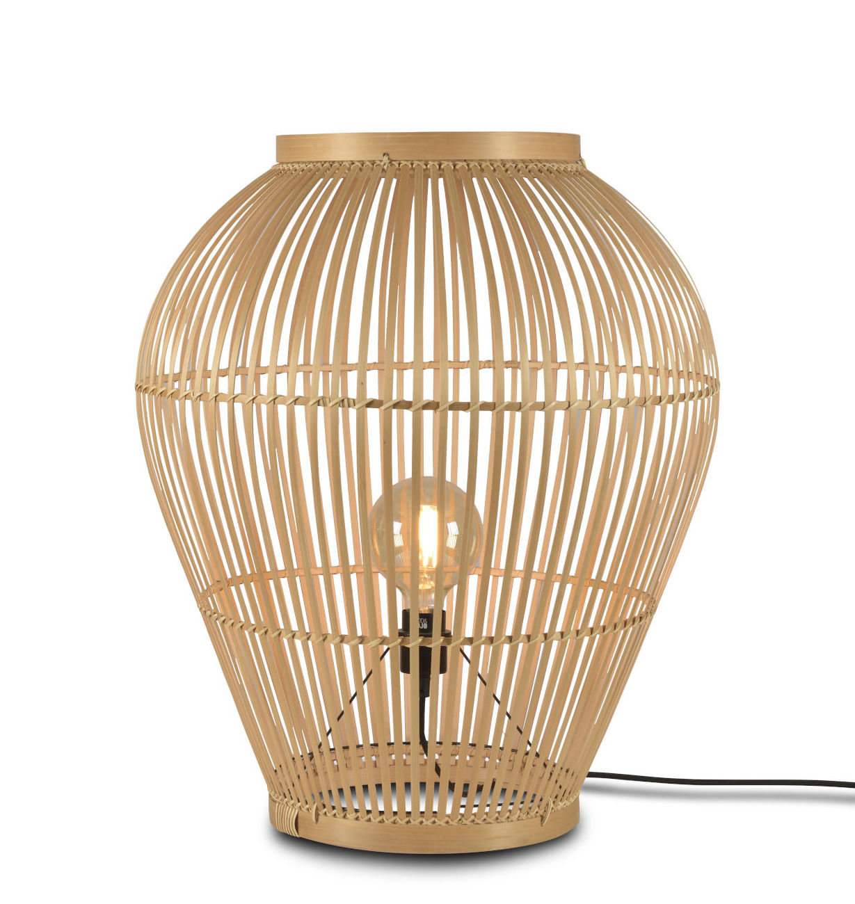 Lighting - Floor lamps - Tuvalu Large Lamp - / Bamboo - H 70 cm by GOOD&MOJO - H 70 cm / Natural - Bamboo