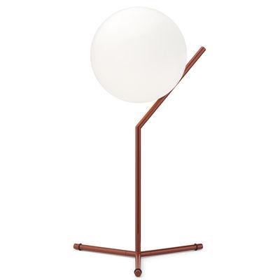 Luminaire - Lampes de table - Lampe de table IC T1 High / H 53 cm - Flos - Rouge-Bordeaux - Acier verni, Verre soufflé