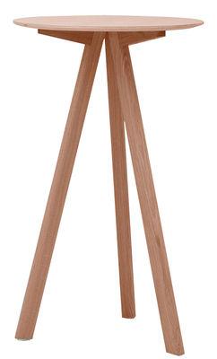 Mobilier - Mange-debout et bars - Mange-debout Copenhague n°20 / Ø 70 x H 105 cm - Hay - Chêne verni mat / Pied chêne - Chêne, Contreplaqué
