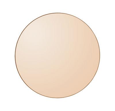 Déco - Miroirs - Miroir mural Circum Small / Ø 70 cm - AYTM - Ambre / Cadre ambre - MDF peint, Verre