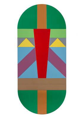 Déco - Miroirs - Miroir mural Tribal / H 113 cm - Seletti - Warrior / Vert - Bois, Verre