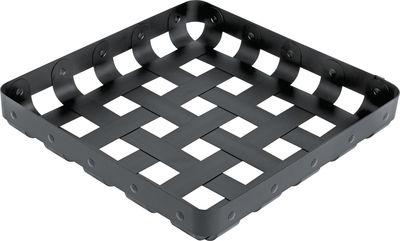 Déco - Corbeilles, centres de table, vide-poches - Panier CrissCross / 51 x 51 cm - Alessi - Noir - Aluminium