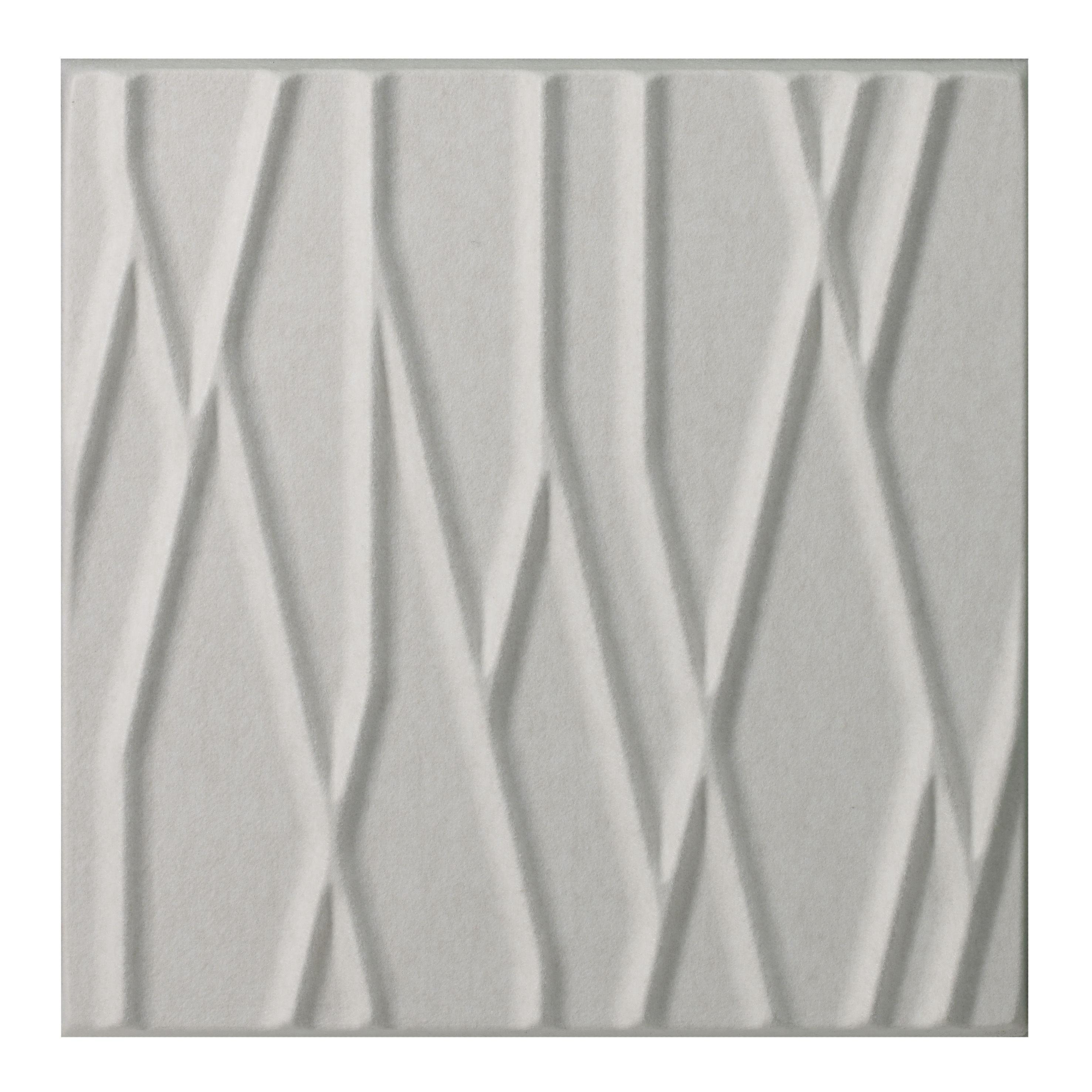 Mobilier - Paravents, séparations - Panneau acoustique mural Soundwave Botanic - Offecct - Blanc - Fibre de polyester, Laine