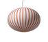 Filigrana Ellipse Pendant - / Red stripes - Ø 16 cm by Established & Sons