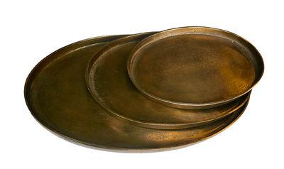 Plateaux Oval Antique Brass / Set de 3 - Pols Potten laiton en métal