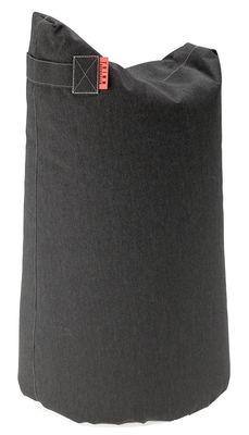 Mobilier - Poufs - Pouf Satellite Large / H 78 cm - Trimm Copenhagen - Noir graphite -  Microbilles EPS, Toile Sunbrella
