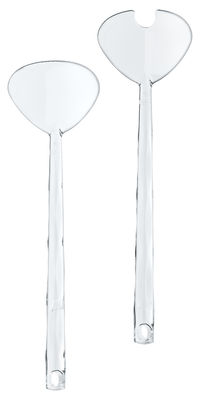 Tischkultur - Besteck - Crystal Salatbesteck - Koziol - Transparent (farblos) - Plastik mit SAN