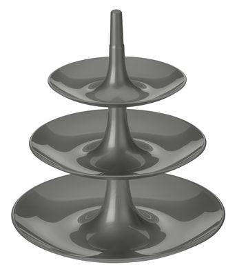 Serviteur Babell / Ø 31,4 x H 34 cm - Koziol gris profond en matière plastique