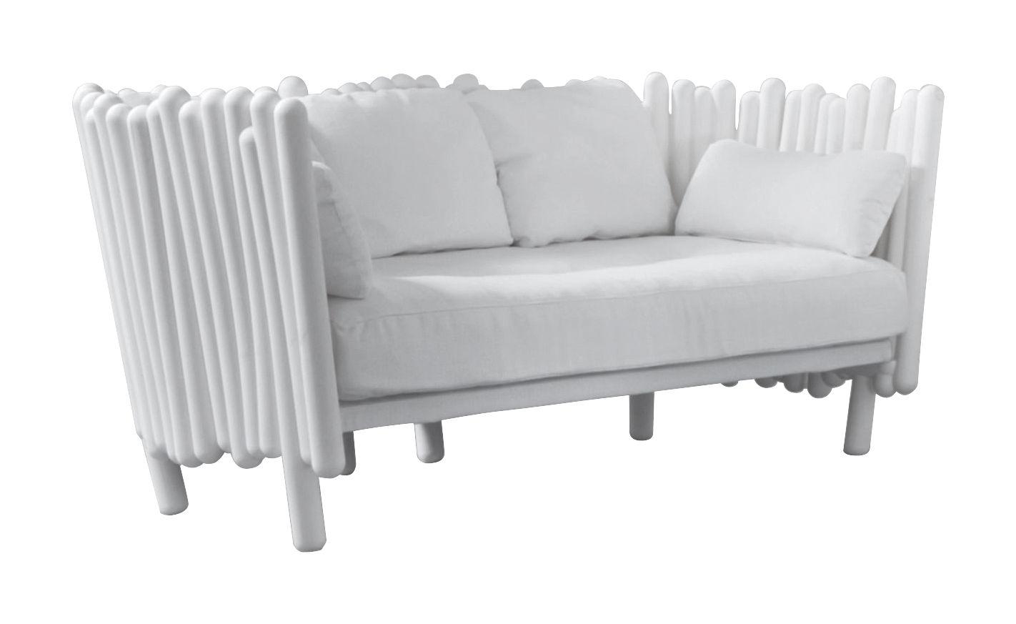 Möbel - Sofas - Canisse Sofa - Serralunga - Weiß - Polyäthylen, Polyester-Gewebe