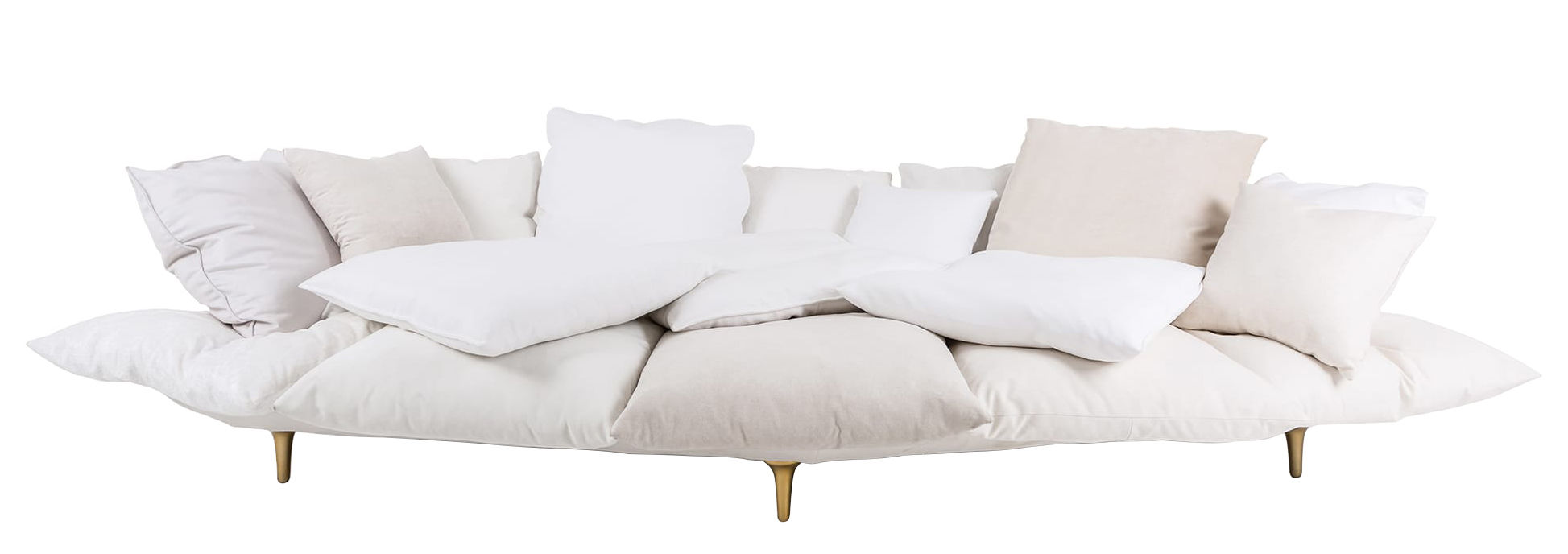 Möbel - Sofas - Comfy Sofa / L 300 cm - Seletti - Weiß - Gewebe, Holz, lackiertes Metall, Polyurethan-Schaum