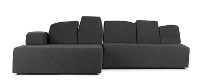 Möbel - Sofas - Something Like This Sofa modulierbar 2 Module / 3-Sitzer - L 274 cm - Moooi - Dunkelgrau - Stoff - Holz - Schaum - Metall